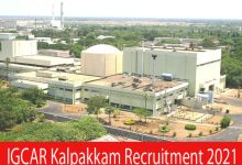Photo of IGCAR Kalpakkam Recruitment 2021 |337 Scientific Officer, Technical Officer, Stenographer & Other Posts |Apply Online