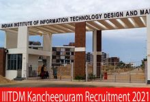 Photo of IIITDM Kancheepuram Recruitment 2021 |Junior Research |Apply Online