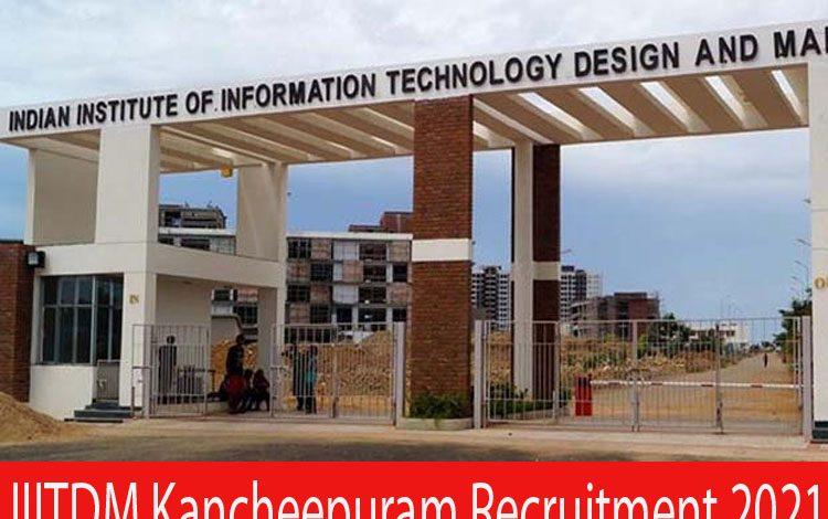 IIITDM Kancheepuram Recruitm