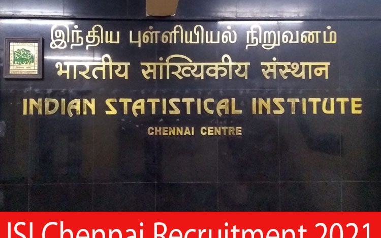 ISI Chennai Recruitment