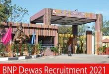 Photo of BNP Dewas Recruitment 2021 | 135 Jr. Technician & Other Posts | Apply Online