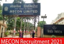 Photo of MECON Recruitment 2021 | Various Executive, Engineer & Others Post | Apply Online