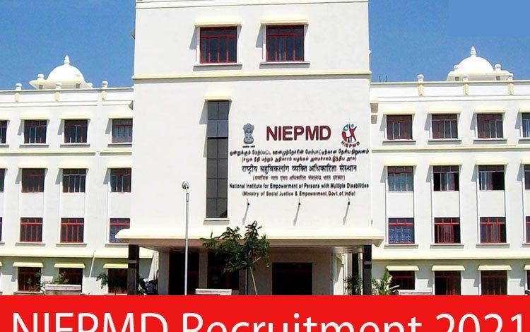 NIEPMD Recruitment 2021
