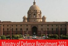 Photo of Ministry of Defence Recruitment 2021 | 42 Driver & Other Posts | Apply Online