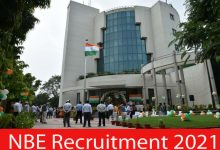 Photo of NBE Recruitment 2021 | 42 Junior Assistant & Other Posts | Apply Online
