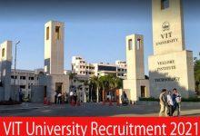 Photo of VIT University Recruitment 2021 | Junior Research Fellow Posts | Apply Online