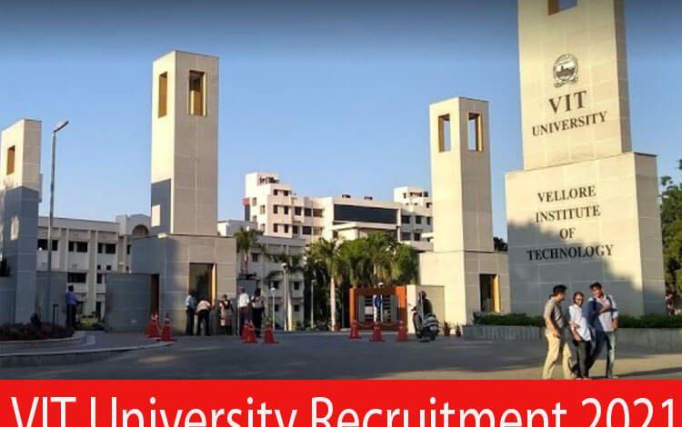 VIT University Recruitment 2021