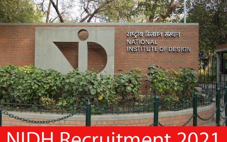 NIDH Recruitment 2021