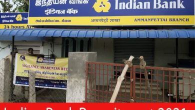 Photo of Indian Bank Recruitment 2021 | Various Attendant ,Watchman Post | Apply Online