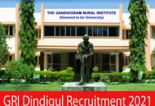 Photo of GRI Dindigul Recruitment 2021 | Various Technical Assistant & Other Posts | Apply Online